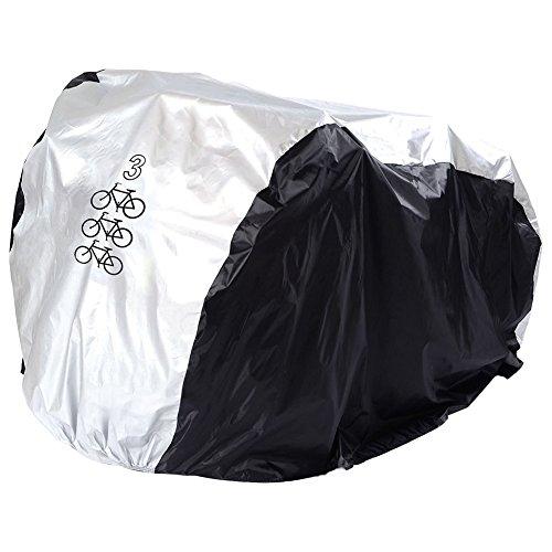 P&E Telo copribici, copribiciclette da esterno, copertura antipolvere, antipioggia e UV protettiva, 180T nylon con rivestimento in PU impermeabile, Telo regolabile con sacchetto
