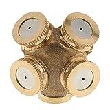 """Imported Brass 1/2"""" DN15 Garden Grass Lawn Spray Nozzle Irrigation Sprinkler 4-Head"""