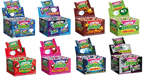 8 Boxen Center Shock Mix Apfel, Cola, Scary, Ocean Reef, Monster Mix, Mystery, Erdbeere und Kirsch a 400 g