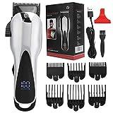 Cortapelos eléctricos para hombre, cortadora de cabello doméstica recargable de bajo ruido, herramienta de corte de cabello para viajes y uso doméstico