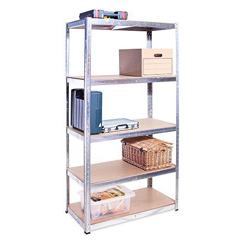 Garage-Regalen, 180cm x 90cm x 40cm, 5Etagen, 175kg pro Regal, gesamte Tragbarkeit 875kg, 0044