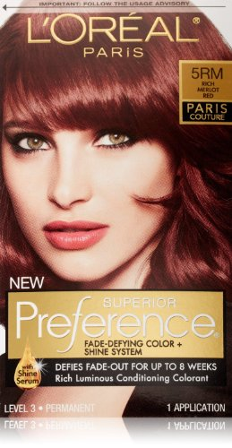 2 Pack- L'Oreal Superior Preference Hair Colorant #5Rm Rich Merlot Red