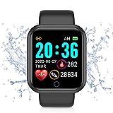 Smartwatch Mujer y Hombre, Reloj Inteligente Impermeable IP68, Pulsera Actividad Deportivo con Monitor de Sueño, Pulsómetro, Pantalla Táctil Reloj Fitness para iOS y Android