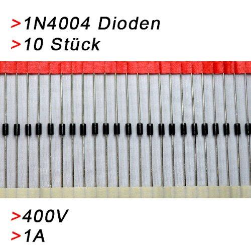 10x Gleichrichterdiode Diode 1N4004 1A 400V Diode Rectifier Dioden