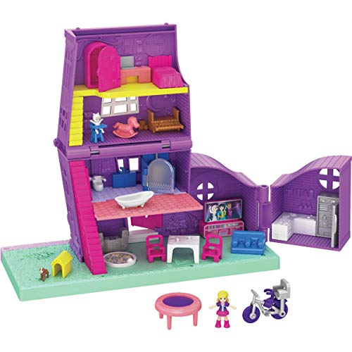 Polly Pocket Pocket House: 4 Stories, 11 Accessories & Micro Dolls, for Ages 4 and Up, Multi
