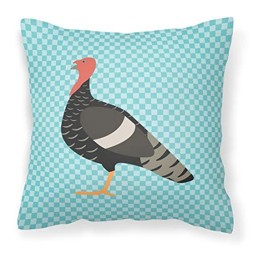 Caroline tesoros del bb8161pw1818marragansett Turquía azul comprobar al aire libre lienzo Tejido decorativo almohada, multicolor