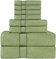 Utopia Towels Sage Green Towel Set, 2 Bath Towels, 2 Hand Towels, and 4 Washcloths, 600 GSM Ring Spun Cotton Highly...