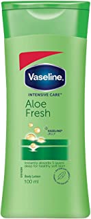Vaseline Intensive Care Aloe Fresh Body Lotion, With 100% Aloe Extract, Non Greasy, Non Sticky Formula For Hand & Body, 10...