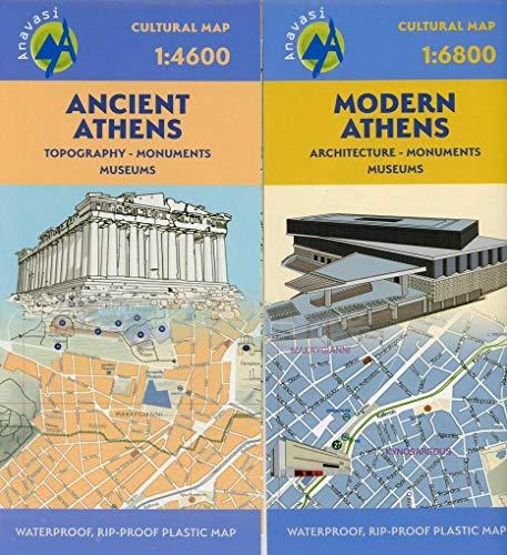 Stadtplan Ancient Athens/ Modern Athens 1:4600