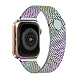 XFEN Compatible for Apple Watch Band 38mm 40mm, 42mm 44mm, Wristband Loop Replacement Band for Apple Watch Series 5,Series 4,Series 3,Series 2,Series 1, 1-Colorful, 42mm/44mm