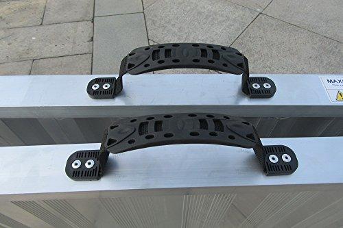 WORHAN® Rampe de Chargement 400kg Robuste Rigidité Extrême Pliable Valise Alu Fauteuil Roulant Scooter Plate-Forme Ultra Antidérapante HR7