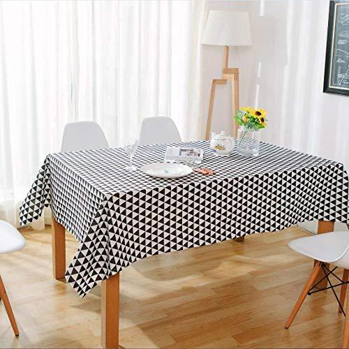 WEIFENG Nordic Couchtisch Tischdecke Dreieck Tischdecke Baumwolle Leinen Kunst Schreibtisch Tischdecke Rechteck Moderne minimalistische Kunst Schwarz 40 * 60