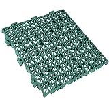 Loseta Antihumedad PVC Reforzada para garajes - 33x33x2cm (Verde)