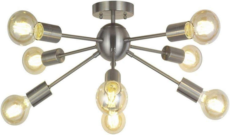 Chandelier8-Light Kronleuchter Deckenleuchten Nickel gebürstet halberbündig Deckenleuchte moderne Pendelleuchten Deckenleuchten Kronleuchter