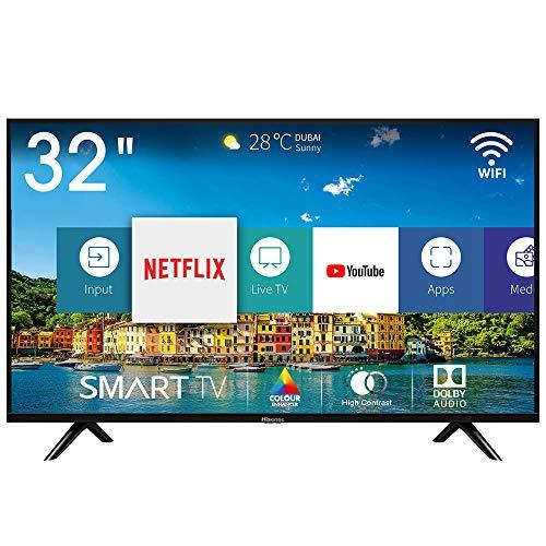 Hisense H32BE5500 Smart TV LED HD 32 , USB Media Player, Tuner DVB-T2 S2 HEVC Main10 [Esclusiva Amazon - 2019]