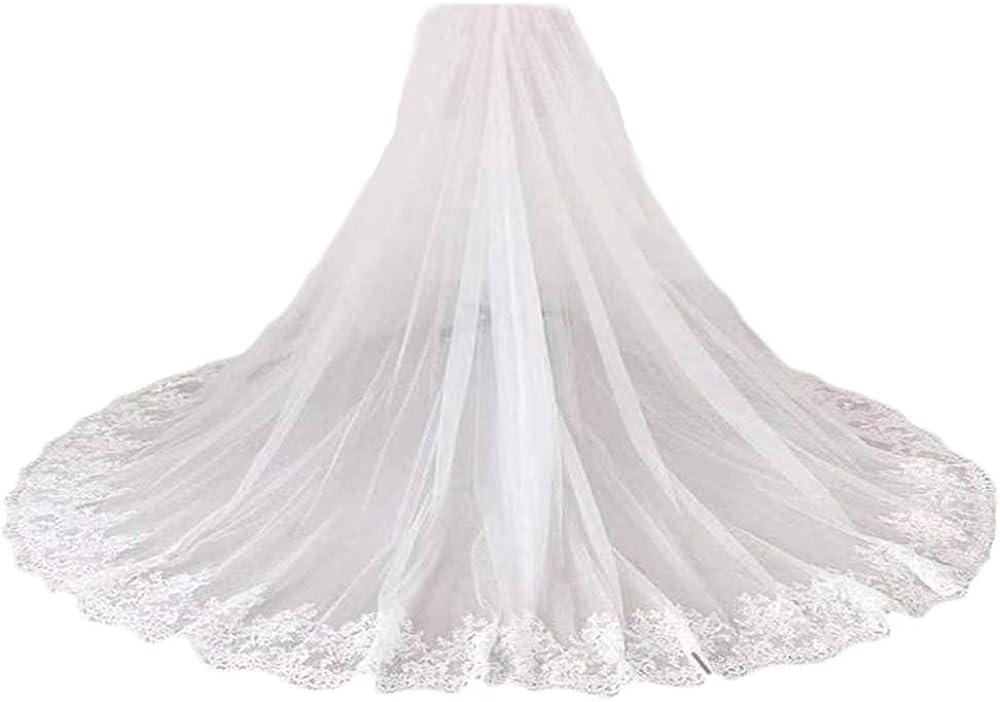 Simlehouse Women's Lace Tulle Overlay Skirt Wedding Skirt Tutu Party Train Bridal Overskirt 2020