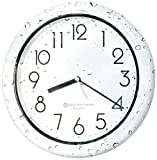 Bjerg Instruments Sealed Waterproof Dust Proof Wall Clock for Kitchen, Bathroom, Pool, Shower, Outdoors