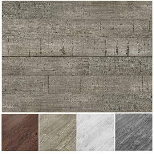 Art3d Reclaimed Wood Panel Distressed Wood Grain in Gray, Self-Adhesive(16 Sq Ft)