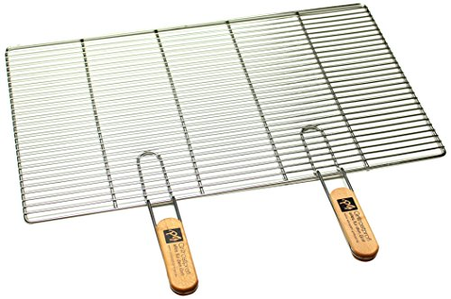 PG Metalltechnik Edelstahl Rost Grillrost - rechteckig und rund - Grill Rost Grössenauswahl (67 x 40 cm mit Griffen)