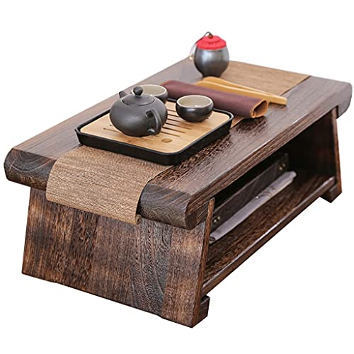 End Tables Mesa De Meditación De Estilo Japonés,Mesa De Centro,Mesa De Té Zen,Escritorio De Escritura para Dormitorio,Decoración De Oficina,Habitación Zen (Size : 60x35x24cm)