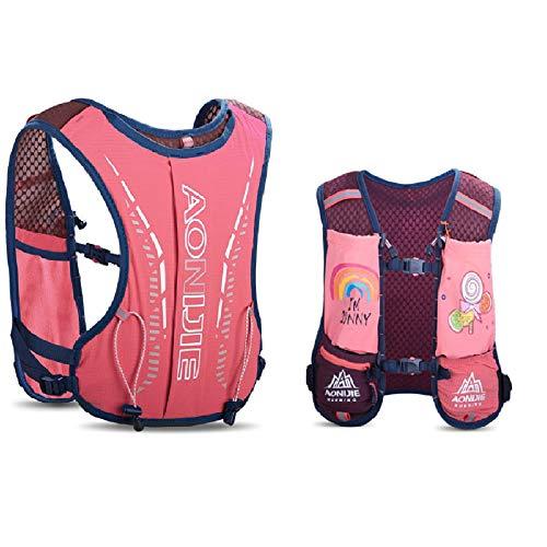 AONIJIE Kinder-Trinkrucksack, 2,5-l-Wassersack-Rucksack Trinkrucksack Wasserblase für Wanderrucksack Fahrradrucksack Klettertaschen (ROSA)