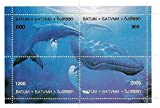Wal Briefmarken 4 Werte in einer postfrisch Natur Briefmarkenbogen von Batumi