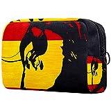 Borsa per cosmetici, regalo per la festa della mamma, borse per il trucco per le donne, piccola borsa per il trucco, borse da viaggio per articoli da toeletta - Toro con bandiera spagnola