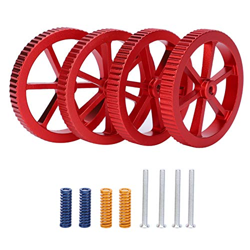 3D Printer Leveling Kit, Aluminum Alloy Red Nuts Heating Rod Spring Hot Bed Accessories