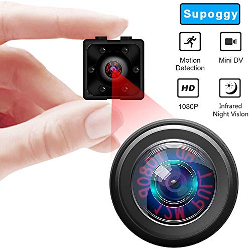 Mini cámara de seguridad espía, cámara oculta inalámbrica Full HD 1080P 16GB-TF CARD, cámara oculta de seguridad para niñeras con detección de movimiento y visión nocturna para uso doméstico, de ofi
