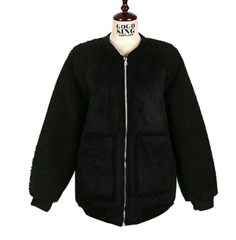 [美しいです] レディース コート スエード コート スリム チェスターコート 厚手 スプライス ダッフルコート 韓国風 防寒 防風 カジュアル 保温性