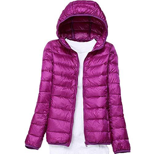 Dames Slim Fit Kraag Capuchon Down Jacket Vest Rits Outdoor Warmte Slim Slim Grote Maat Licht Jas