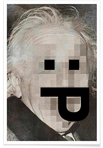 Juniqe® Affiche 40x60cm Célébrités Pop Art - Design Retro Pop Emoticons Albert (Format : Portrait) - Poster, Tirages d'art & Tableaux par des Artistes indépendants créé par Butcher Billy