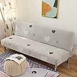 Kikier Copridivano senza braccioli pieghevoli all-inclusive copridivano utilizzato per soggiorno divano elasticizzato, Linea Love, taglia unica