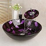YYZD® Lavabo de cerámica Juego de grifería para lavabo de baño con diseño...