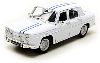 Welly – Renault R8 Gordini – 1964, 24015 W, Blanco/Bandas Azules, (Escala 1/24