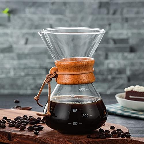 Venta al por mayor de alta temperatura resistente a la cafetera de café cafetera café espresso cafetera con maceta de filtro V60 de acero inoxidable (Color : 1)