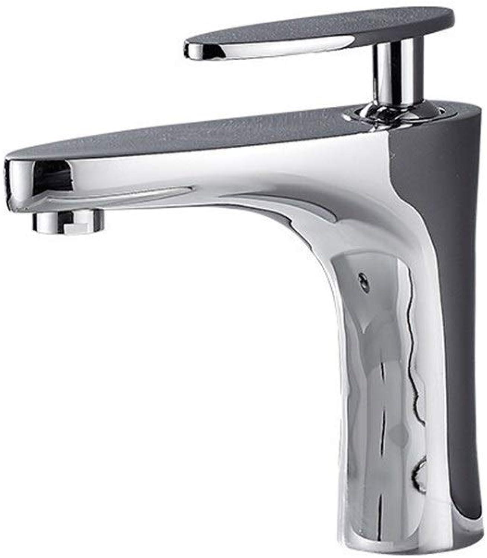 HUOYUJIE Waschbecken Wasserhahn warm und kalt Badezimmer Badezimmer Wasserhahn Waschbecken Waschbecken Badezimmer Einlochmontage Waschbecken Kupfer Wasserhahn JF