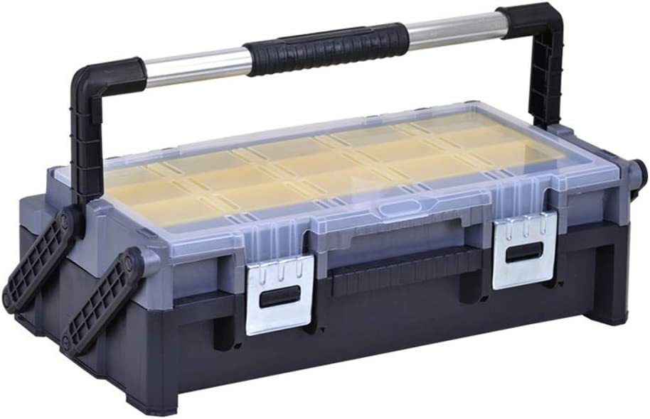 Tool Box Organizer low-pricing 18 Super beauty product restock quality top! Inch Hard Multi-layer Folding Home Toolbox