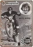 Kela Tapijt Husqvarna Motorcycle Blechschilder Vintage