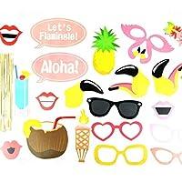 デコレーションパーティー フラミンゴとコクナッツの葉ガーランドビーチバナーサマーパーティーガーランド誕生日トロピカルルアウプールハワイアンパーティーフラミングルの装飾