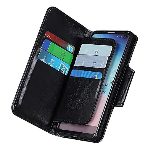 Funda para iPhone 7 Plus, [6 tarjeteros] [Titular de Dinero] [función Atril] Funda de Piel Tipo Cartera para iPhone 7 Plus, Negro