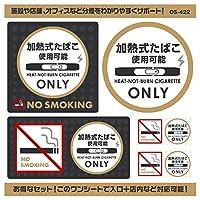 オンサプライ(On SUPPLY) 分煙 禁煙 ステッカー 「加熱式たばこ使用可能」 受動喫煙防止 電子タバコ アイコス OS-422