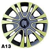 MNJHBG Cubierta de Rueda de Montaje de ABS Cubierta de Cubo Cubierta de plástico Universal, Protector de Rueda de 13'4 Piezas,A13