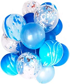 20Pcs Blue Balloons Set -12 Inch Latex Balloons /Party Decoration Confetti Balloons Ready to Inflate - for Wedding Deco /B...