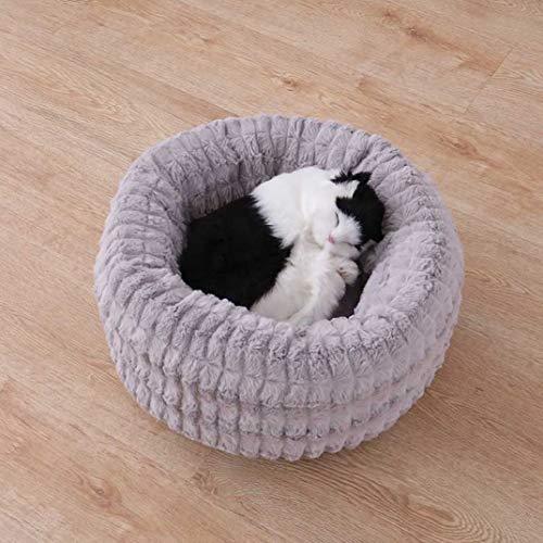 AMURAO Winter Runde Pet Kennel Warm Nest Bett für Katzen Weiche Fleece Hund Schlafsack Sofa Puppy Basket Heimtierbedarf