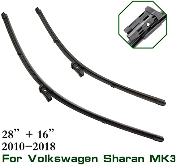 "Front Pair Aero Flat Wiper Blades For Volkswagen SHARAN 06.2001-03.2010  28/""28/"""