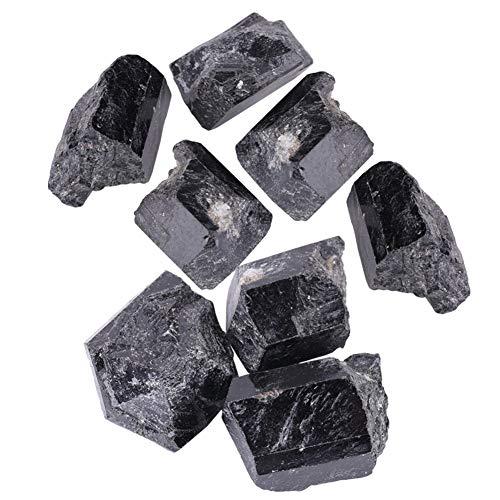 Turmalin Stein Turmalinkristall Raue 1pcsblack Quarz-Kristall Turmalin Raue Felsen Mineral Heilstein