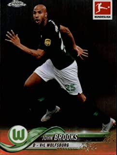 2018-19 Topps Chrome Bundesliga #15 John Brooks VfL Wolfsburg Official Soccer Futbol Trading Card