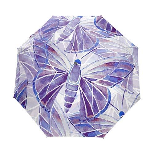 Mr.Lucien Hermoso paraguas de viaje plegable automático con