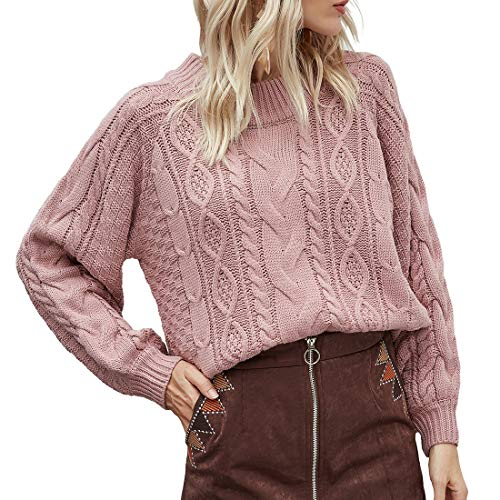 Lfly Sweater Damen Langarm Rundhals...